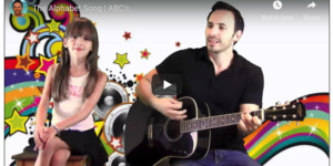 Adrian Edward and Micaela Singing the Alphabet Song ABC