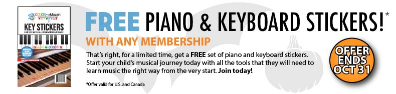 Free piano and keyboard stickers
